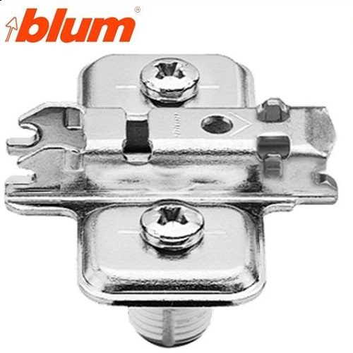 Blum Base Bisagra Cruz Altura 0mm.Taco 10mm.