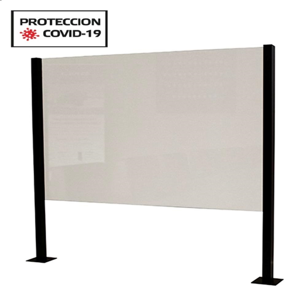 Panel Mobiliario COVID-19 Al.600xAn.600mm.Metacr.6mm./Alu.Mt