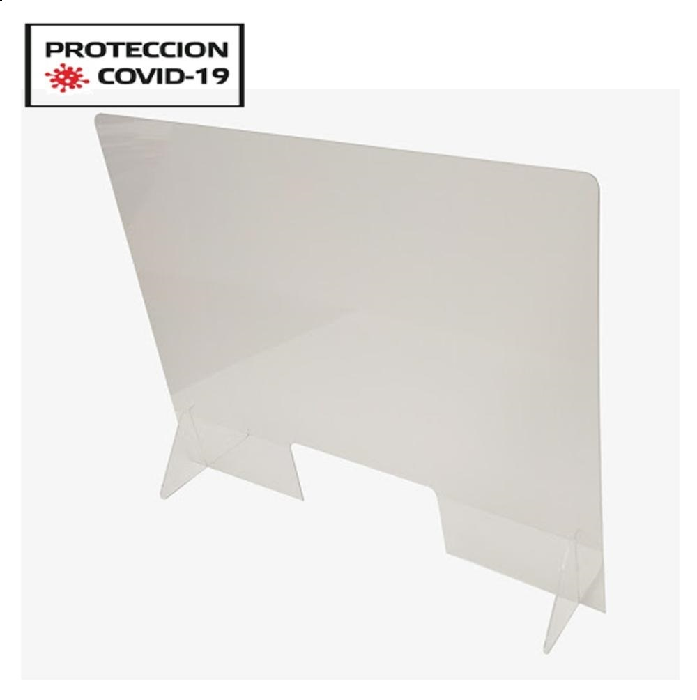 Panel contencion Plus COVID-19 AAl.650xAn.650mm.Metac.3mm.